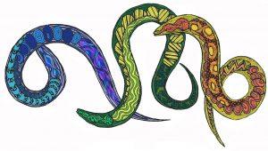 Artists impression of Nematode worms