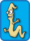 Cartoon image of worm