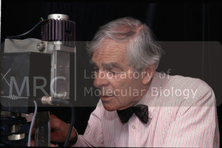 Uli Arndt shown at work beside a diffractometer, c. 2000s