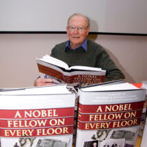 John Finch with 'A Nobel Fellow on Every Floor'