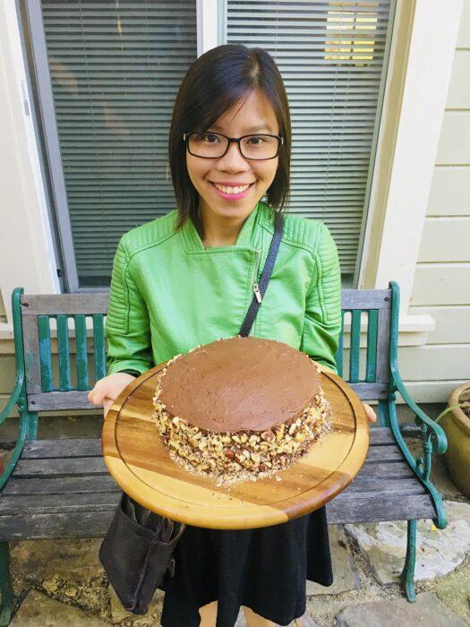 Kelly loves baking