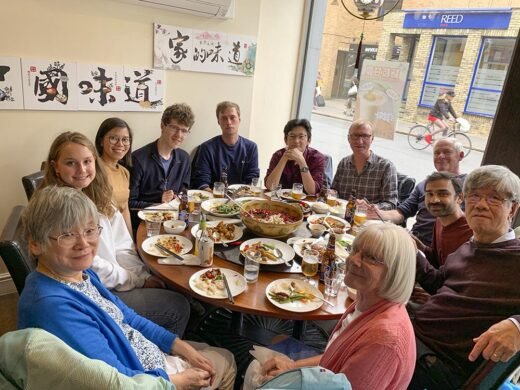 Kiyoshi's group at lunch (August 2019). Courtesy Kelly Nguyen.