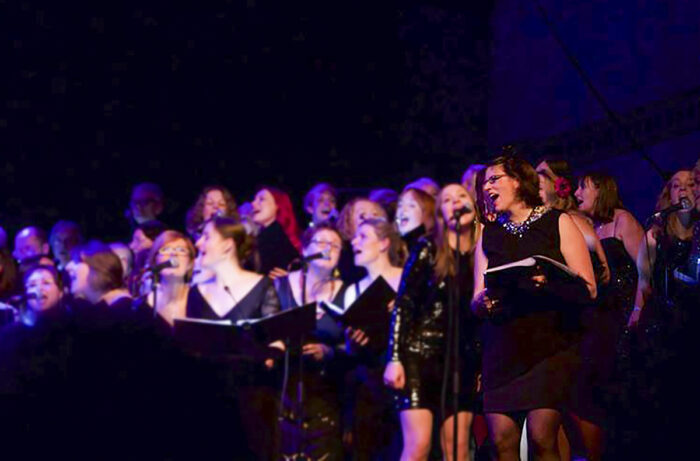 Katja singing with her choir