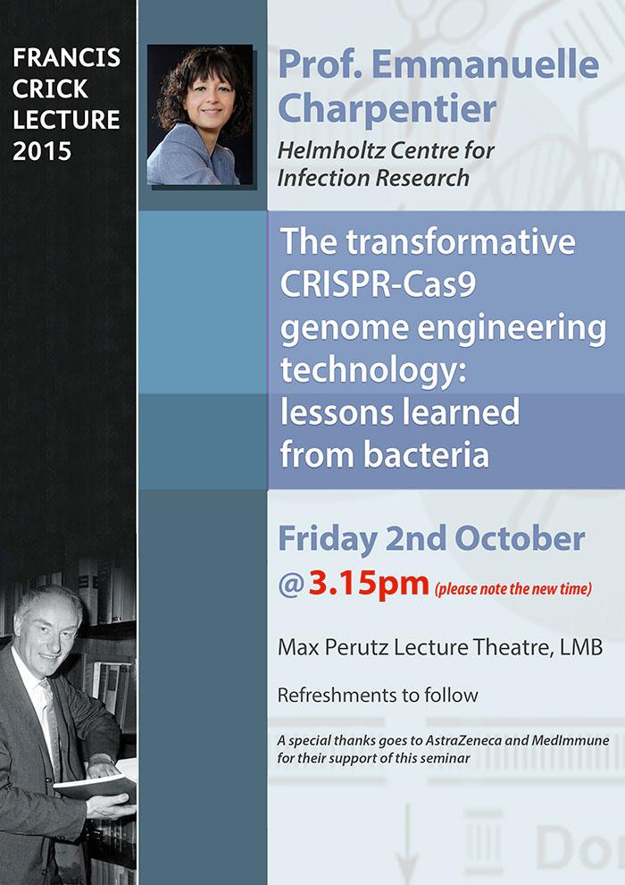 Crick Lecture Charpentier