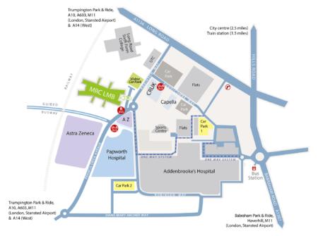 Map of area around LMB