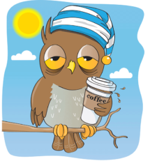 An Owl with caffeine