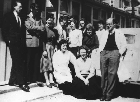 Max Perutz and group 1958