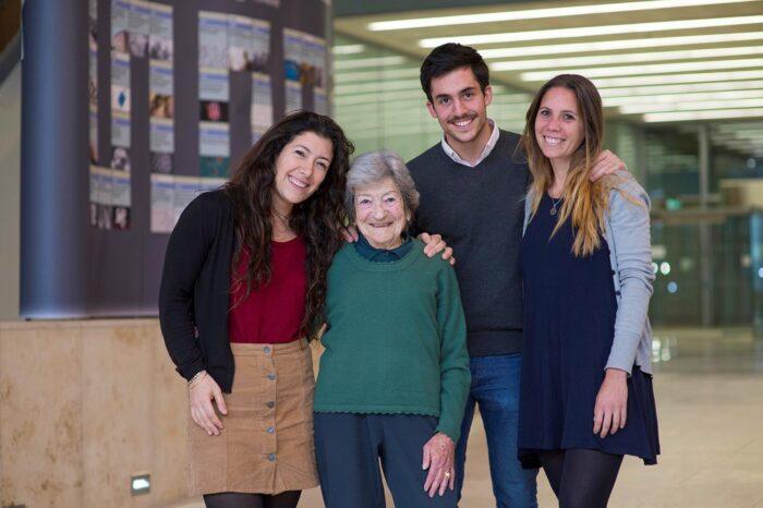 Celia with students 2017