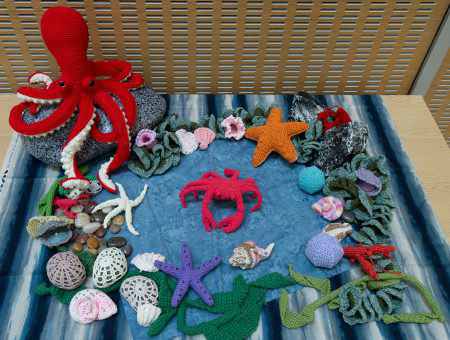 crocheted rock pool