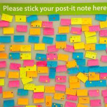 post-it note feedback