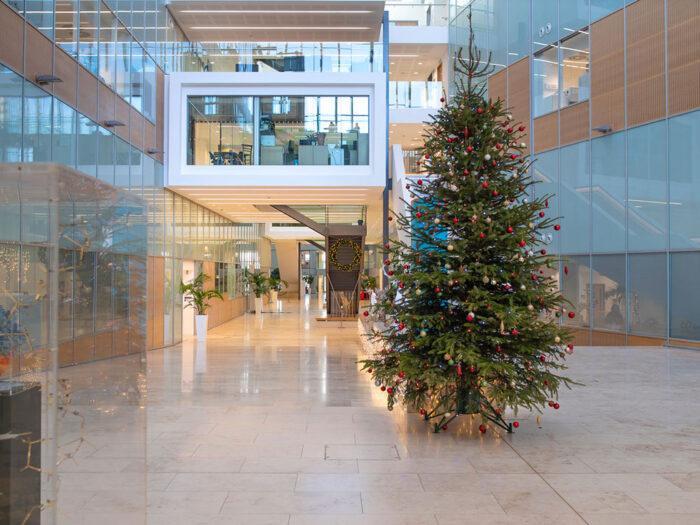 Christmas tree in atrium