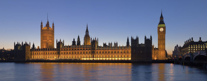 The Palace of Westminster. This file is licensed under the Creative Commons Attribution-Share Alike (CC BY-SA) 2.5 Generic license. Photo by Diliff.