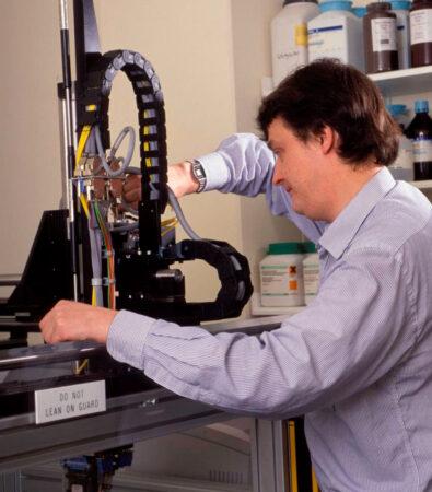 Paul Dear in Lab