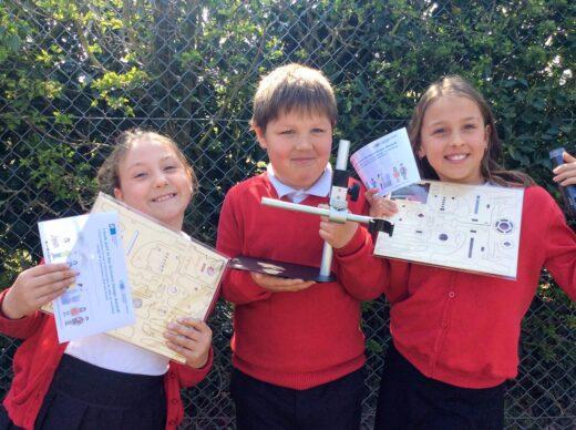 Children from Barnham Primary School with their prizes