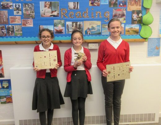 : Children from Petersfield Primary School with the second prize