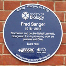Society-of-Biology-Fred-Sanger-Plaque