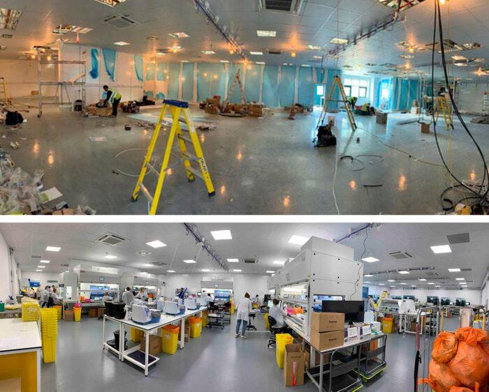 Transformation of UK Biocentre into COVID-19 testing lab