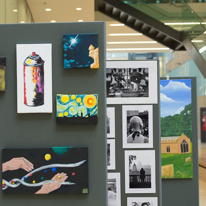 staff show their creative side at the lmb art exhibition