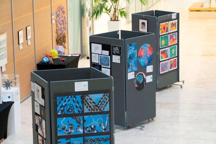 The PDB Art Exhibition in the LMB atrium