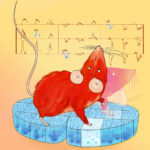 Mouse playing motor notes on collicular piano