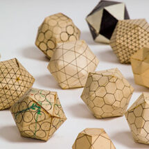 Geometric models exploring the structures of spherical viruses, by Aaron Klug and John Finch