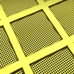 Optical micrograph of an ultrastable gold substrate