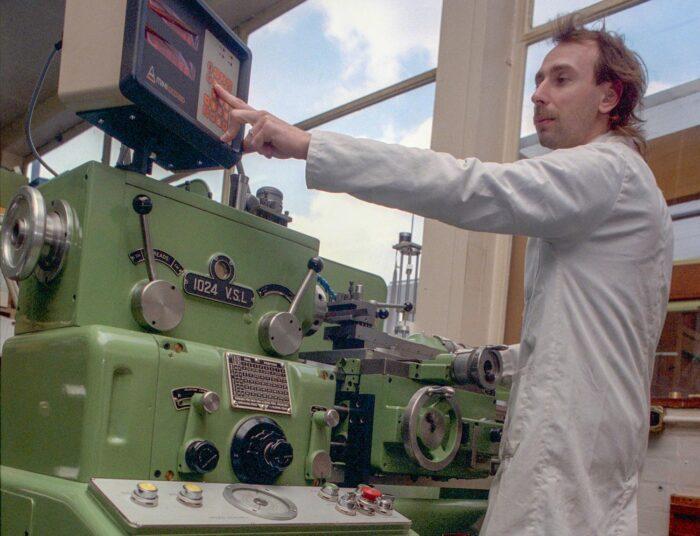 Steve Scotcher CNC lathe 1980s