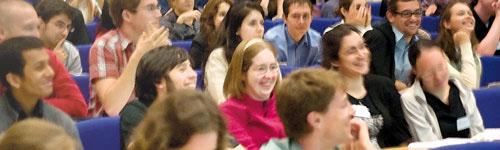 Student symposium audience in Max Perutz Lecture Theatre
