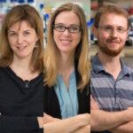 EMBO awardees (L-R): Wanda Kukulski, Madeline Lancaster and Joseph Yeeles